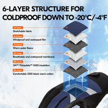 Load image into Gallery viewer, Vgo 1/2 Pairs -4℉ or above 3M Thinsulate C100  Gloves, Waterproof Insert (2 Colors,SL8777FW)