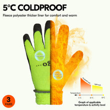 Load image into Gallery viewer, Vgo 3Pairs Foam Latex Coated Gardening and Work Gloves (Black, High-Vis Orange & Green, RB6010)
