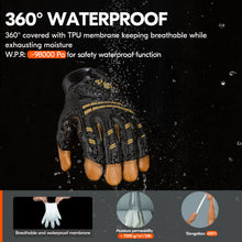 Load image into Gallery viewer, Vgo 1/2 Pairs -32℃/-4℉ or above Mechanic Glove(Brown,GA8954FW)