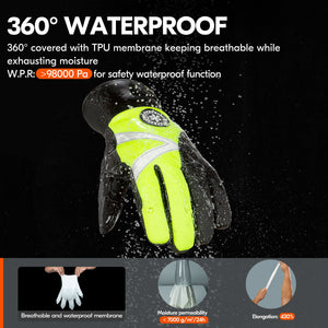 Vgo 1/2 Pairs -4℉ or above 3M Thinsulate C100  Gloves, Waterproof Insert (2 Colors,SL8777FW)