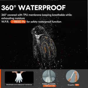 Vgo 32℉ Waterproof High-Dexterity Heavy-Duty Winter Mechanic Gloves (Black, SL8849FW)
