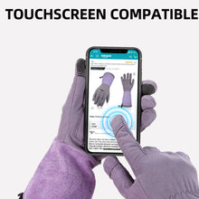 Load image into Gallery viewer, Vgo Ladies' Synthetic Leather Palm with Long Pig Split Leather Cuff Rose Garden Gloves (Purple,SL6592W-P)