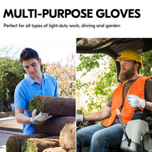 Load image into Gallery viewer, Vgo... 3Pairs Unlined Top Grain Goatskin Work and Driver Gloves(White,GA9501-W)