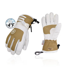 Load image into Gallery viewer, Vgo 2Pairs -4℉ 3M G80 Lined Unisex Goatskin Waterproof Ski Gloves (Mens,SF-GA2446FW-M)