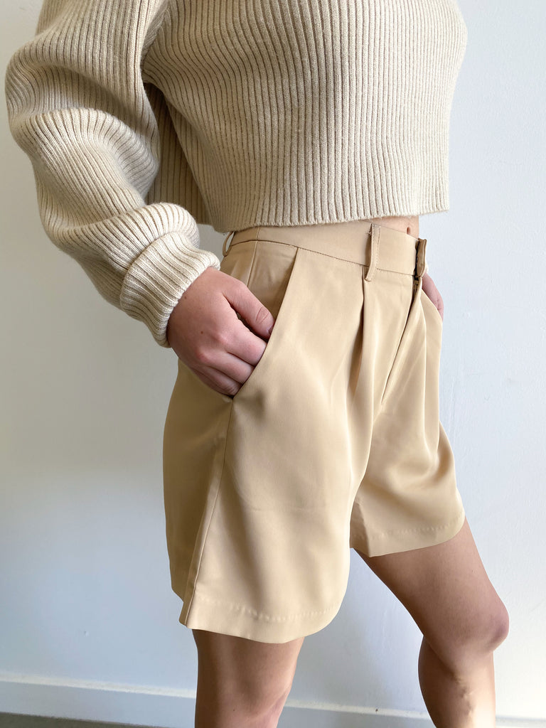 Lana Pleated Shorts