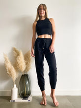 Load image into Gallery viewer, Gigi High Neck Crop Top in Black