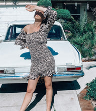 Load image into Gallery viewer, Cait Leopard Smock Mini Dress