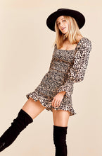 Load image into Gallery viewer, Cait Leopard Print Smock Mini Dress - Glencoe