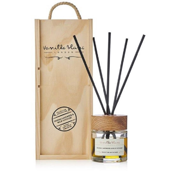 Vanilla Blanc Natural Reed Diffuser Encased in a Signature Hand Crafted Wooden Gift Box One Size