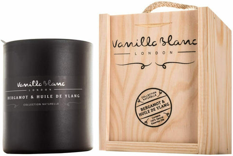 Vanilla Blanc Kosher Matt Edition Soy Candle Encased in a Signature Hand Crafted Wooden Gift Box