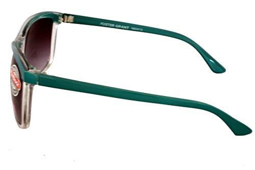 Foster Grant ESTABLISH TEAL FG65 Unisex Sunglasses Teal & White Plastic Frame & Arms Black Gradient Lenses 100% UV Protection CAT 3