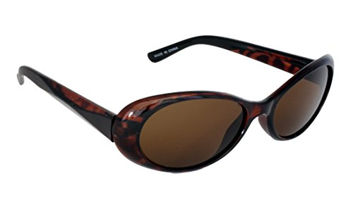 Foster Grant STU14332 FG115 Women's Oval Shape Sunglasses Tortoise Shell Brown Plastic Frame & Arms UV400 Brown Lenses 100% UV Protection CAT 2