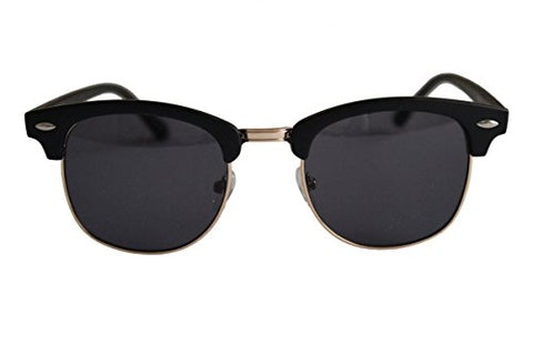 Unisex Sunglasses Black Lens with Black & Gold Plastic Metal Frame Anti-Glare Anti-Reflective