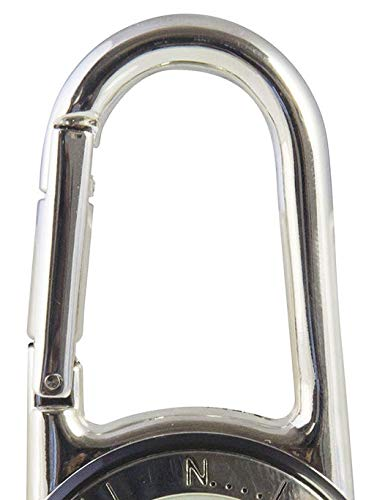 Klox Shiny Silver Clip On Carabiner FOB Watch for Doctors Nurses Paramedics Chefs