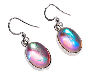 Women 925 Sterling Silver Handmade Mystic Quartz Gemstone Dangle & Drop Earrings NLG-797