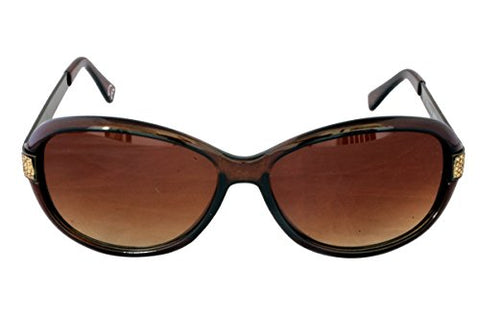 Foster Grant LEILA BRN FG83 Women's Oval Style Sunglasses Brown Plastic Frame & Metal Arms Brown Gradient Lenses 100% UV Protection CAT 3