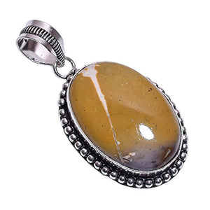 Sterling Silver Overlay Handmade Agate Pendant Girl's Women's Necklace Pendant Rhodium Plated Chain NLG-477