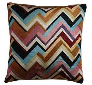 "Beautiful Zigzag Aztec Print Multicolored 16 "" x 16 "" Cushion Cover Pillow for Sofa Bed"