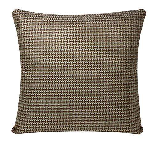 Jute Affect Design Square 17 x 17 inch Cushion Cover Pillowcase for Sofa Bed Couch