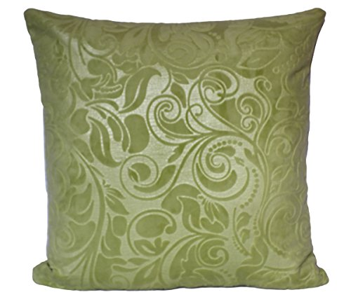 Velvet Embossed Floral Pattern Plush 17 X 17 inch Cushion Cover for Sofa Bed