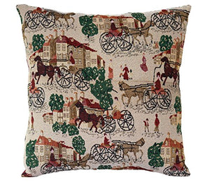 Beige Vintage English Countryside Khadi Weaved Cushion Cover Pillow for Sofa Bed 16 x 16