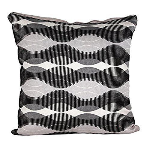 "Beautiful Black & White Geometric Print 16"" X 16"" Cushion Covers Pillow For Sofa Bed"