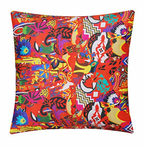 "Vibrant Abstract Egyptian Print 100% Twill Cotton 16"" X 16"" Cushion Cover Pillow for Sofa Bed"