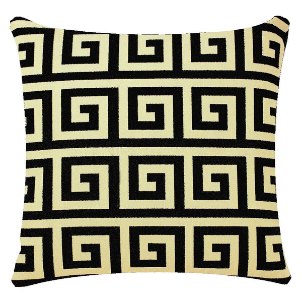 Bullahshah Geometric Pattern Square 17 x 17 inch Cushion Cover Pillowcase for Sofa Bed Couch