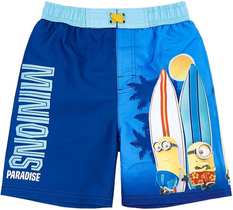 Minions Boys Swim Shorts, Swimming Beach Trunks, Surf Water Boxers for Kids