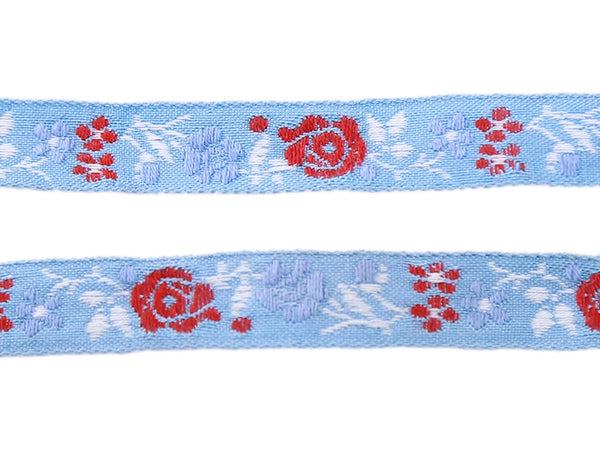Beautiful Floral Embroidered Pattern Cotton Ribbons Tape Lace Trim 11mm Wide M3596/11