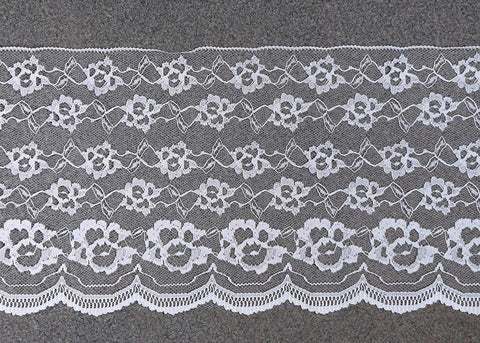 Vintage Antique DIY Net Rachel Lace Ribbon Floral Pattern Trimming Bridal Wedding Prom Dress Scalloped Edge 200mm Wide M1983