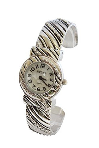 Urban Silver Plated Ladies Bracelet Bangle Metal Wrist Watch Unique Vintage Designed Strap Extra Battery