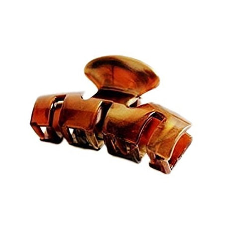 Sienna Pretty Brown or Tort Brown Hair Claw Clamp Clip Unique Bull Dog Design