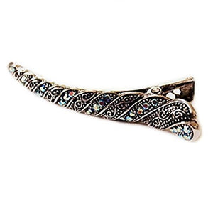 Sienna Beautiful Bridal Flamingo Long Hair Clip Vintage Style With Blue Stones