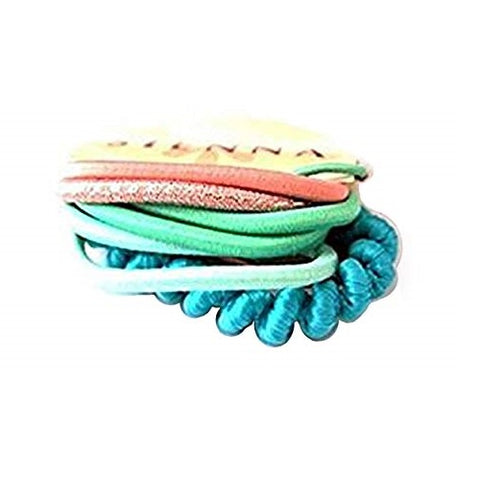 Sienna A Pack of 12 Girls Mixed colour Elastic Bobble Elastic Hair band Pony tail Band