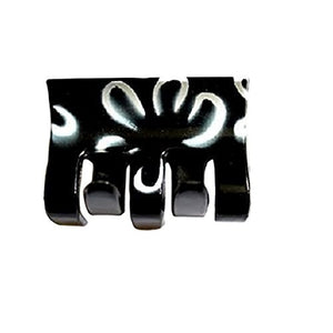 Sienna A Beautiful Black and white Hair Claw Clip Bull Dog Design