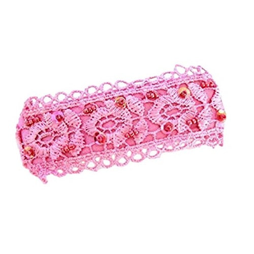 Sienna A Beautiful Pink Beaded Spring fastening Hair Clip/ French Barrette Hair Clip