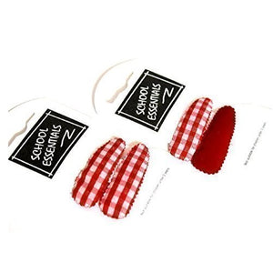 Loxie Set of 2 Packs of Red and Check Red & White Hair Slides/Hair Grips/Bandies Kirby