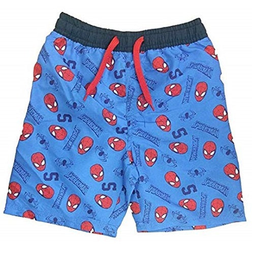 Marvel Spider-Man Print Blue Swimming Trunks Swim Beach Shorts Surf Water Boxers for Boys