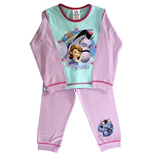 Officially Certified Disney Sofia the First Me & Minimus Pink & Blue Full Sleeves Pyjama Shirt Pyjamas