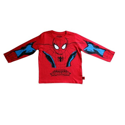 Marvel Comics Original Red Spider-Man Full Sleeves Boy's Superhero T-Shirt
