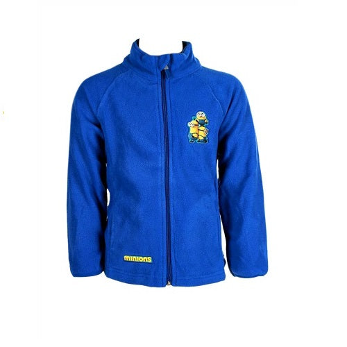 Minions Blue Unisex/Boy's Fleece Top Warm Jacket Coats Zip Up Age 6-12 Years
