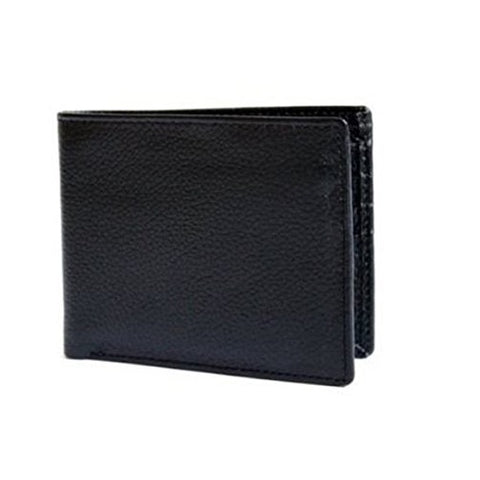 Bullahshah Black Men's Genuine Cowhide Leather Wallet Soft Top Quality Leather Cowhide