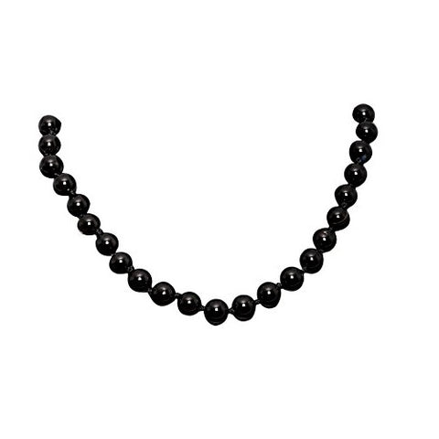 Bullahshah Onyx Stone Necklace Choker for Women with Rhodium Plated Hook & Extension Chain