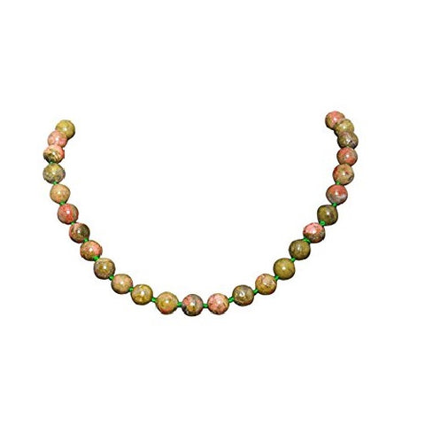 Bullahshah Jasper Stone Necklace Choker for Women with Rhodium Plated Hook & Extension Chain
