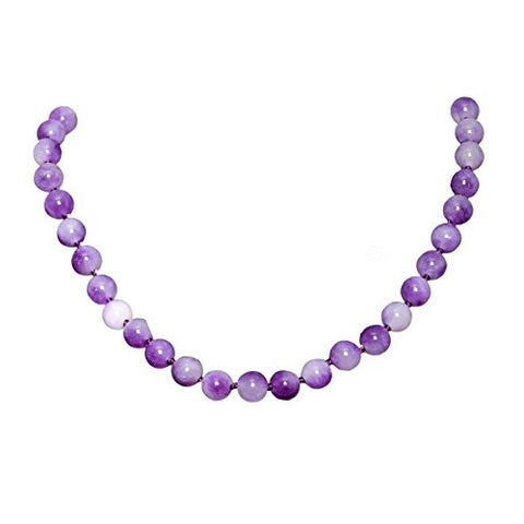Bullahshah Amethyst Stone Necklace Choker for Women with Rhodium Plated Hook & Extension Chain