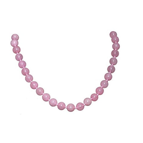 Bullahshah Rose Quartz Stone Necklace Choker for Women with Rhodium Plated Hook & Extension Chain