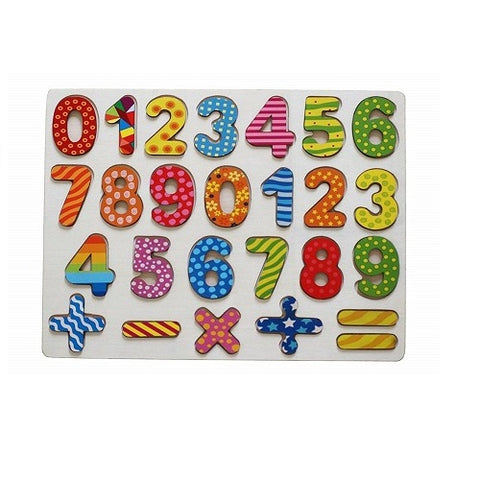 Children Puzzle Blocks 1-10 Numbers with Mathematical Shapes Educational Toys