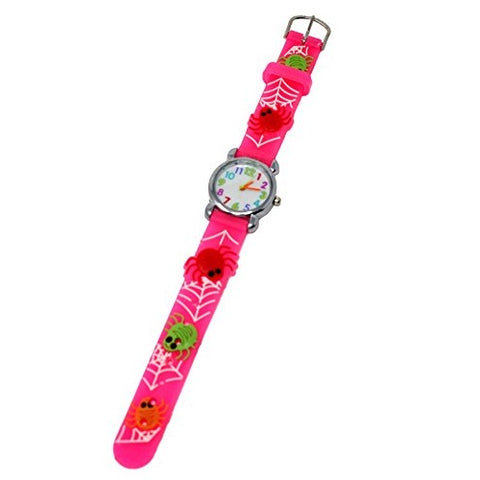 Soft Silicone Unisex Ocean Theme Crabs & Turtles Fun Kids Wrist Watch Silver Multicoloured Number Dial Analog Quartz Movement