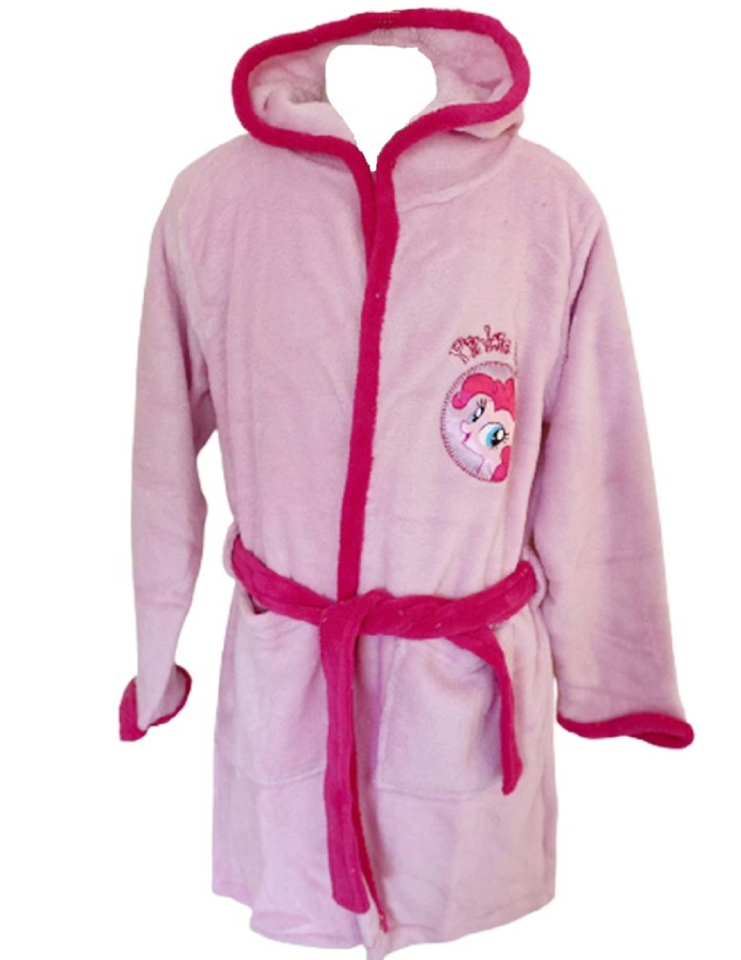 My Little Pony Pink Dressing Gown Soft Fleece Bathrobe Hooded Robe for Girls
